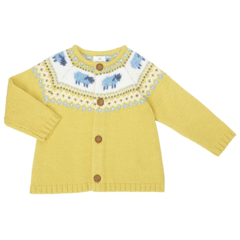 John Lewis Yellow Baby Luxury Sheep Cardigan Princess Charlotte Knitwear Princess Charlotte