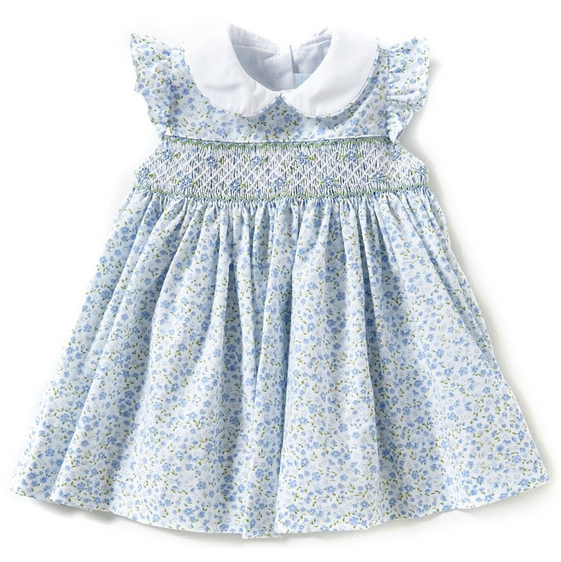 M&H Blue Floral Dress - Princess Charlotte Dresses ...