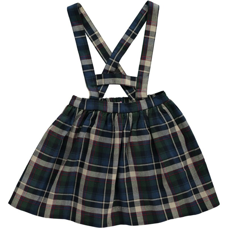 Amaia Kids Yarrow Tartan Plaid Skirt