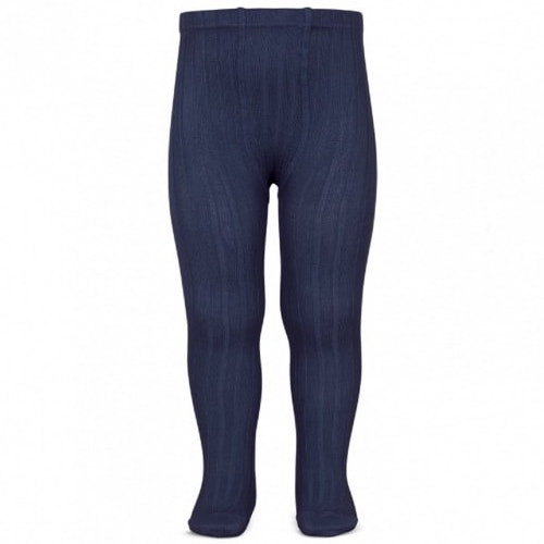 Amaia Navy Ribbed Tights