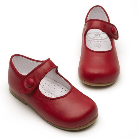 Papouelli 'Catalina' Red Leather Shoes
