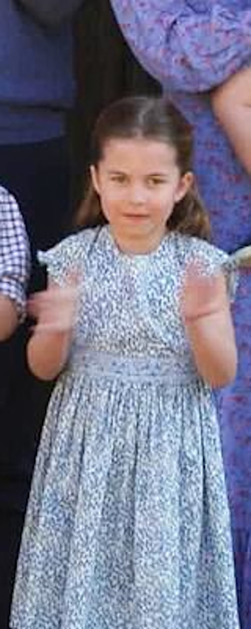 Princess Charlotte 'Clap for Carers' on 23 April 2020