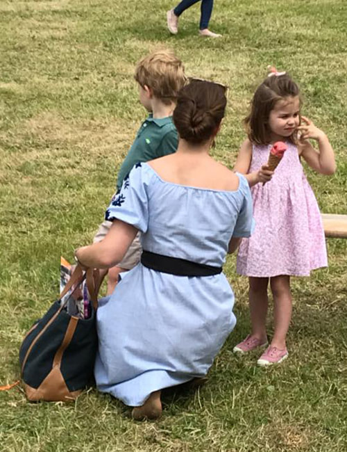 Princess Charlotte at Houghton Horse trials 2018