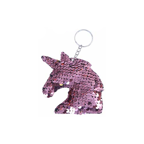 Sequined unicorn keychain