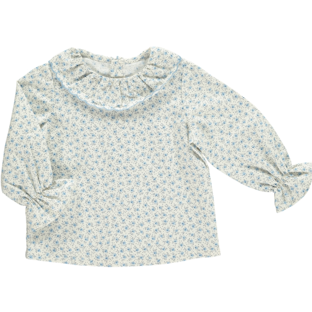 Amaia Pea Blouse in Blue Floral